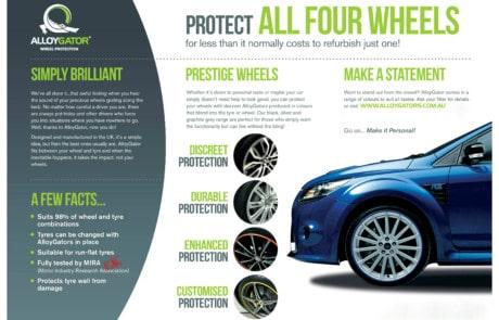 Alloygator wheel protector flyer