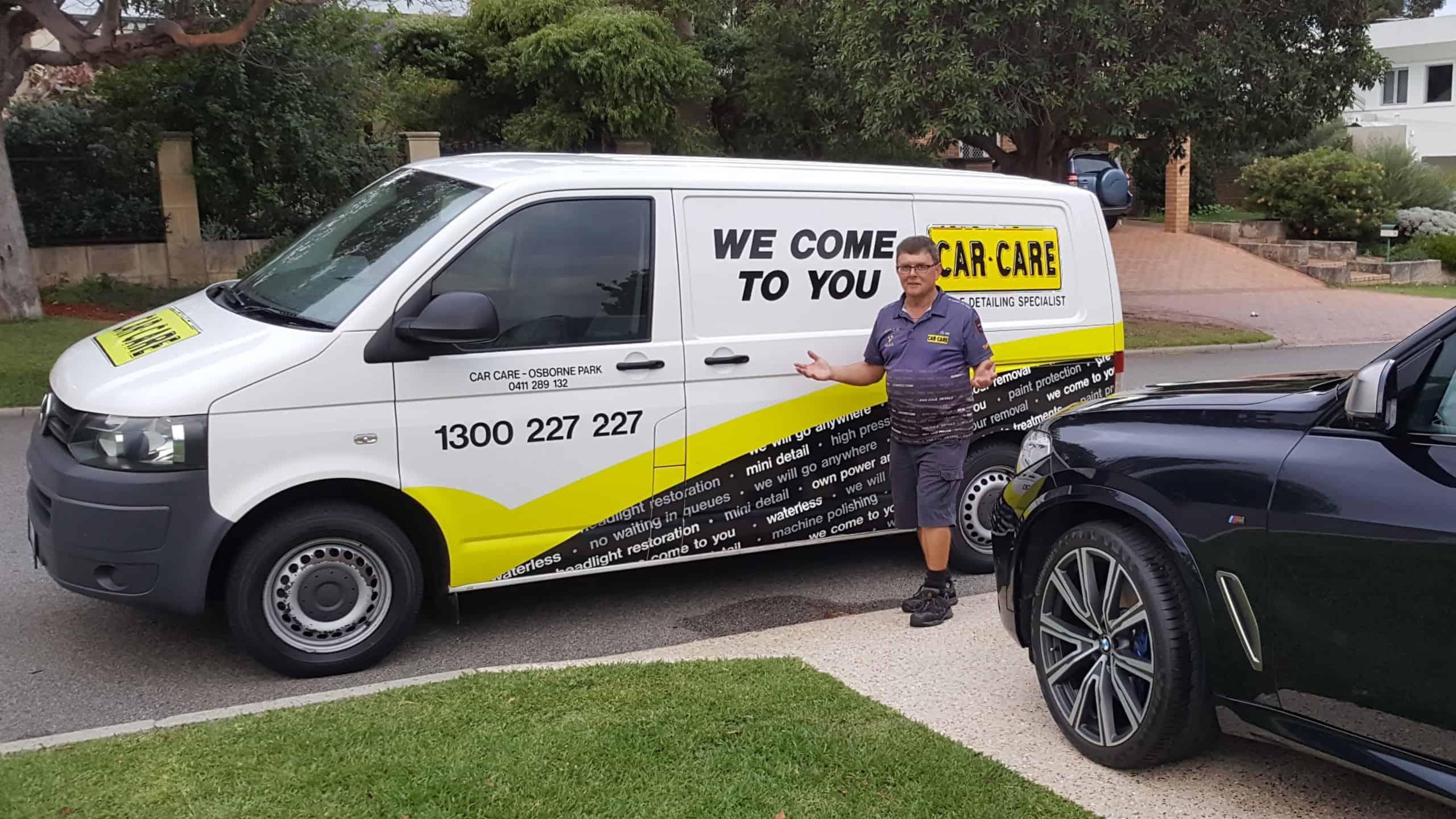 Bruce car care Osborne Park by white van